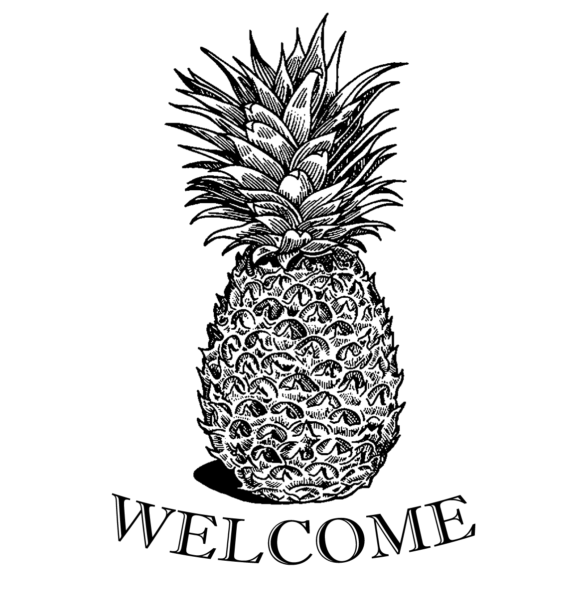 It's just a picture of Adorable Pineapple Stencil Printable