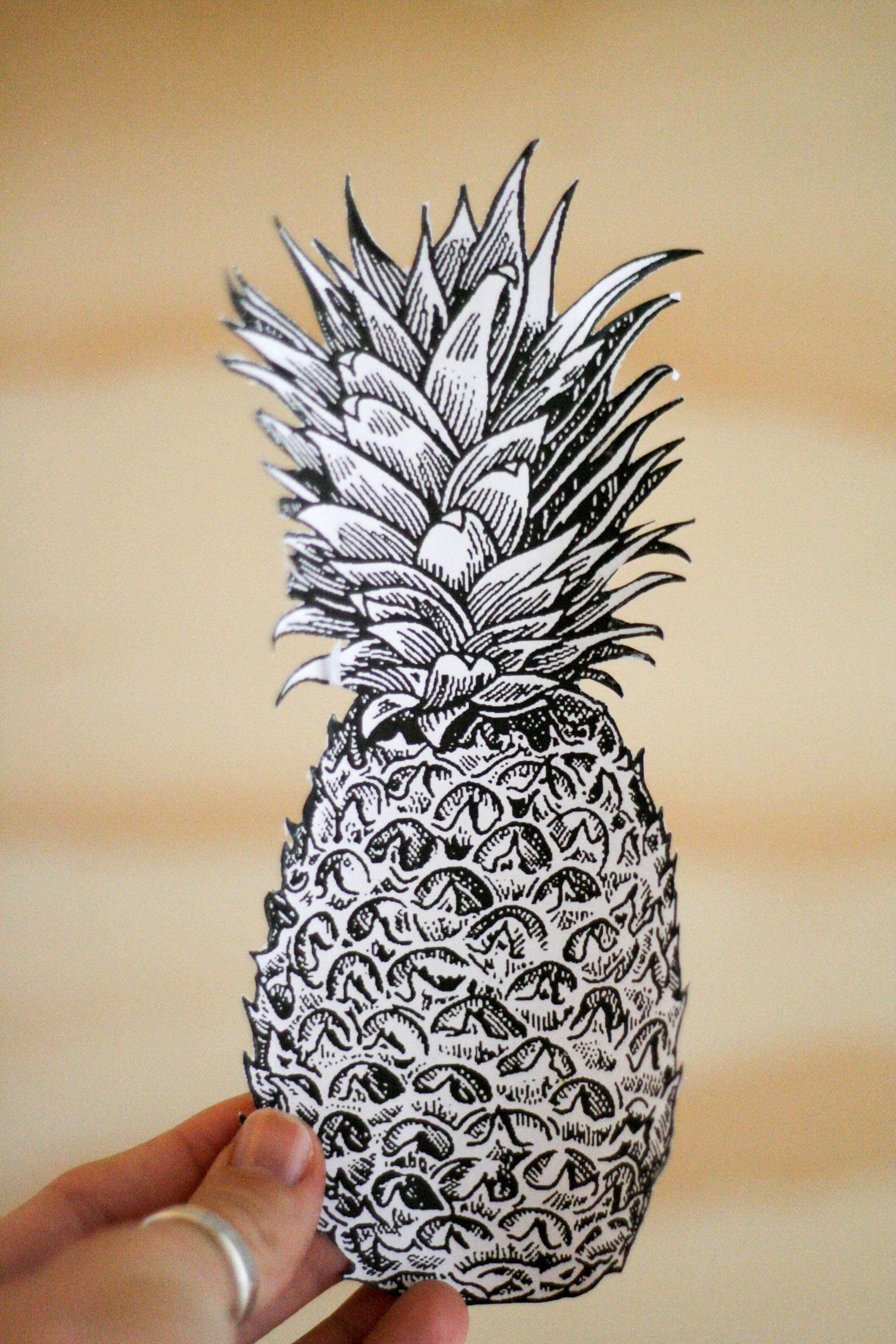 It's just a photo of Unforgettable Pineapple Stencil Printable